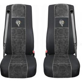 Autositzbezüge DAF XF 105 XF 106 2 Gurte Schwarz Grau A23