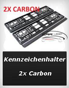 kennzeichenhalter carbon