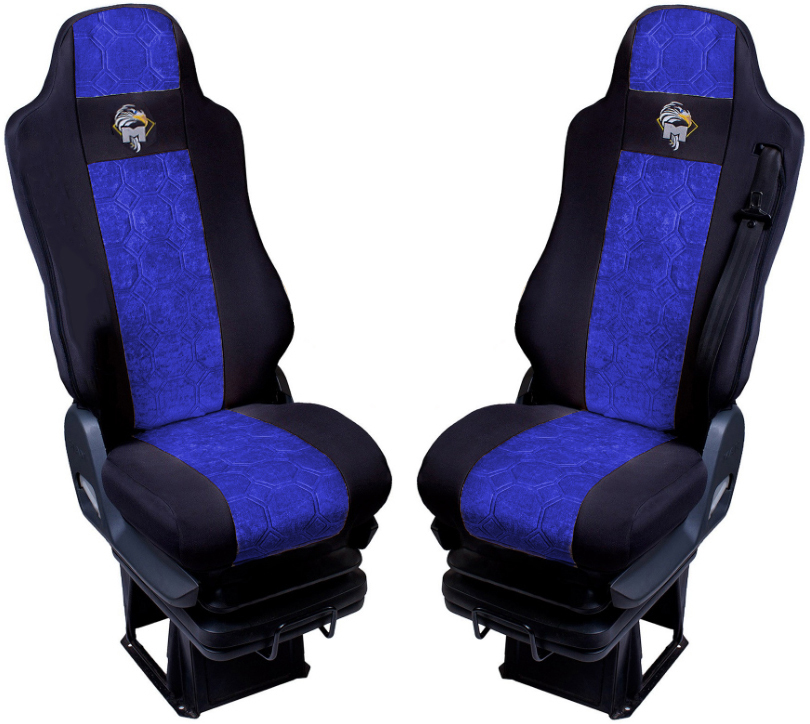 LKW Sitzbezüge Schonbezüge Schwarz Blau passend für  MAN TGA TGX TGS TGM TGL