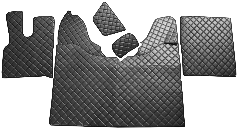 LKW Tunnelabdeckung Fußmatten Schwarz passend für DAF XF 106 Automatikgetriebe