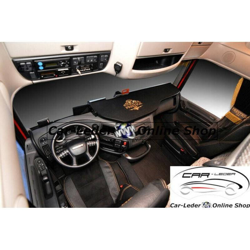 Truck LKW DAF XF106 Passform Ablagetisch Tisch Armaturen Ablage Kunstleder schwarz