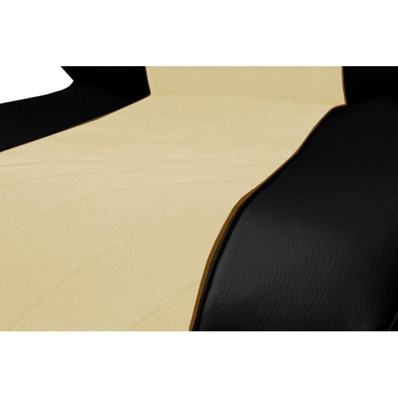 Schonbezüge Auto Sitzbezüge Kunstleder - Stoff für LKW MAN TGA TGS TGM TGL TGX Schwarz - Beige