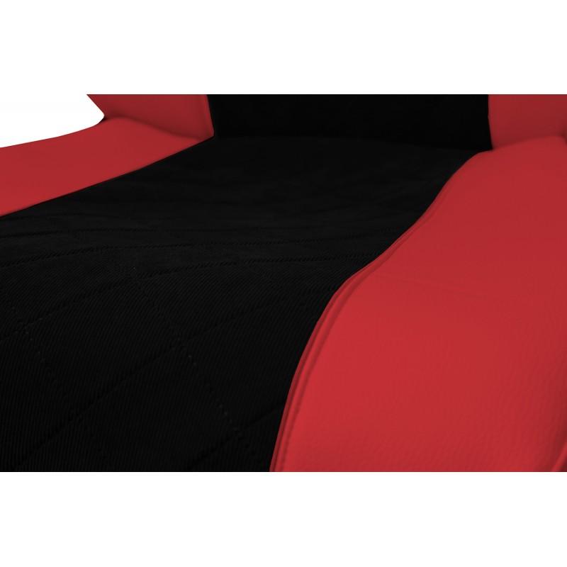 Schonbezüge Auto Sitzbezüge Kunstleder - Stoff für LKW MAN TGA TGS TGM TGL TGX Rot - Schwarz