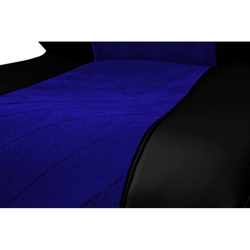 Schonbezüge Auto Sitzbezüge Kunstleder - Stoff für LKW Mercedes Actros MP4  2011 - 2018 Schwarz - Blau