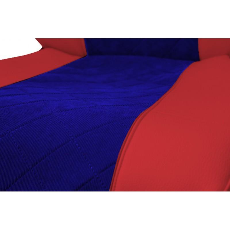 Schonbezüge Auto Sitzbezüge Kunstleder - Stoff für LKW Volvo FH4 ab 2012 Rot - Blau