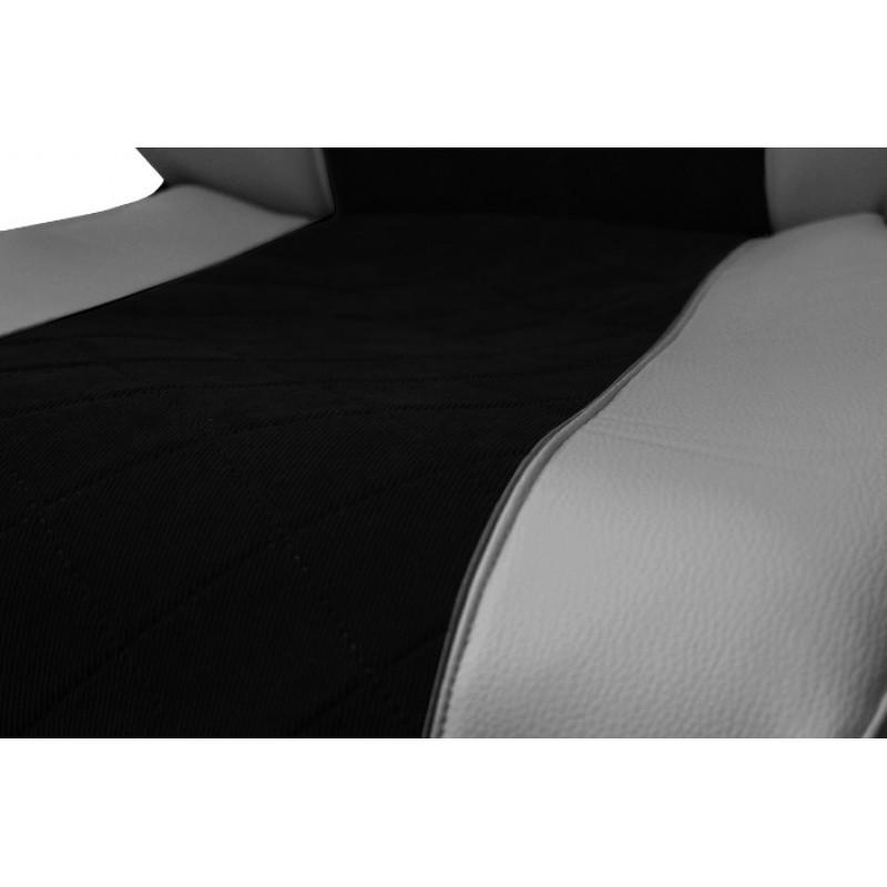 Schonbezüge Auto Sitzbezüge Kunstleder - Stoff für LKW Volvo FH4 ab 2012 Grau - Schwarz