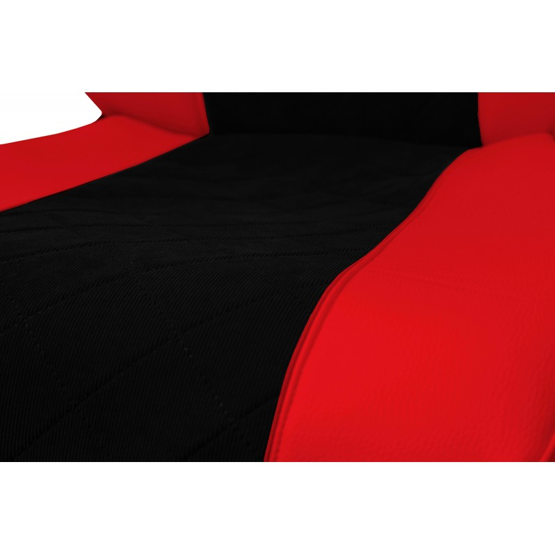Schonbezüge Auto Sitzbezüge Kunstleder - Stoff für LKW Volvo FH4 ab 2012 Rot - Schwarz