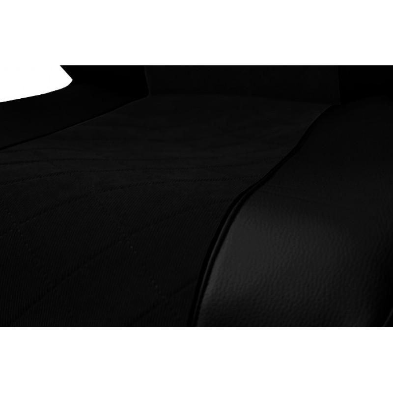 Schonbezüge Auto Sitzbezüge Kunstleder - Stoff für LKW Volvo FH4 ab 2012 Schwarz - Schwarz