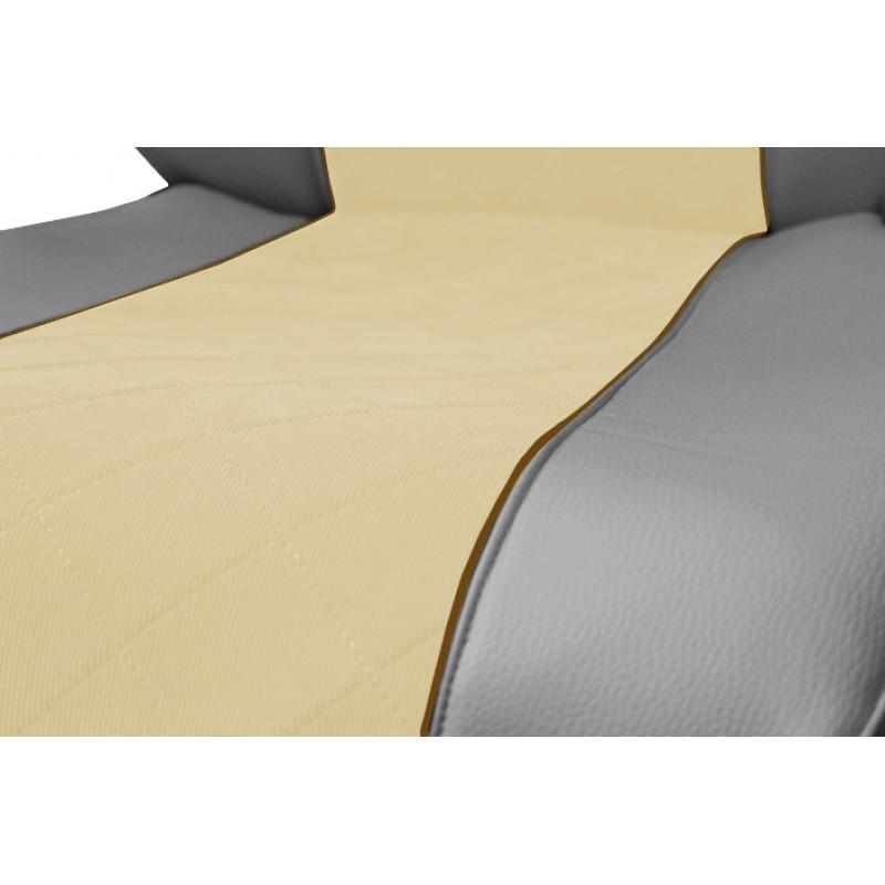 Schonbezüge Auto Sitzbezüge Kunstleder - Stoff für LKW Mercedes Actros MP4 2011 - 2018 Grau - Beige