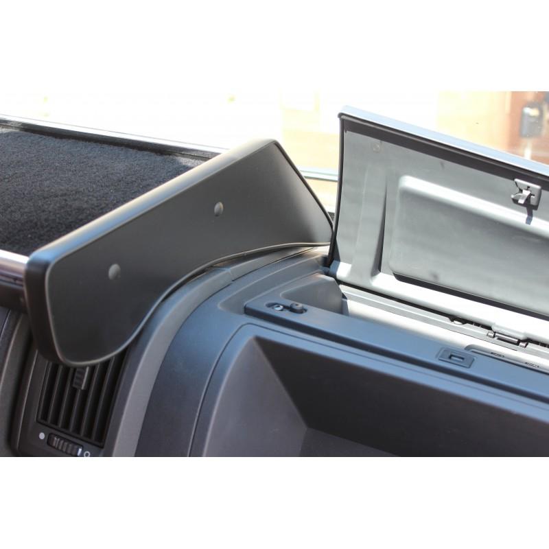Armaturen Mittelablage Tisch mit Getränkehalter Grau passend für Citroen Jumper Peugeot Boxer Fiat Ducato Wohnmobile mit Rollos