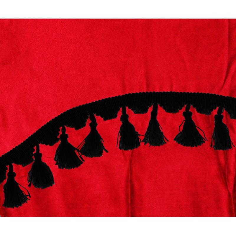 Frontscheibenborde Gardinen Vorhänge Rot Schwarz passend für Volvo FH12 / FH4 / FH / FM / FL