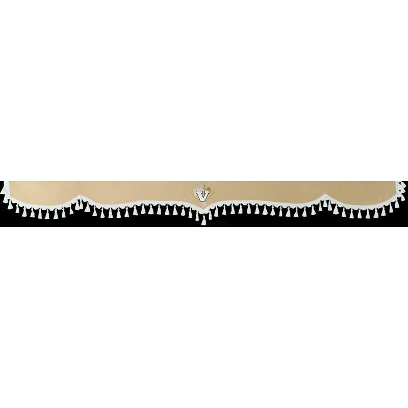 Frontscheibenborde Gardinen Vorhänge Beige Weiß passend für Volvo FH12 / FH4 / FH / FM / FL