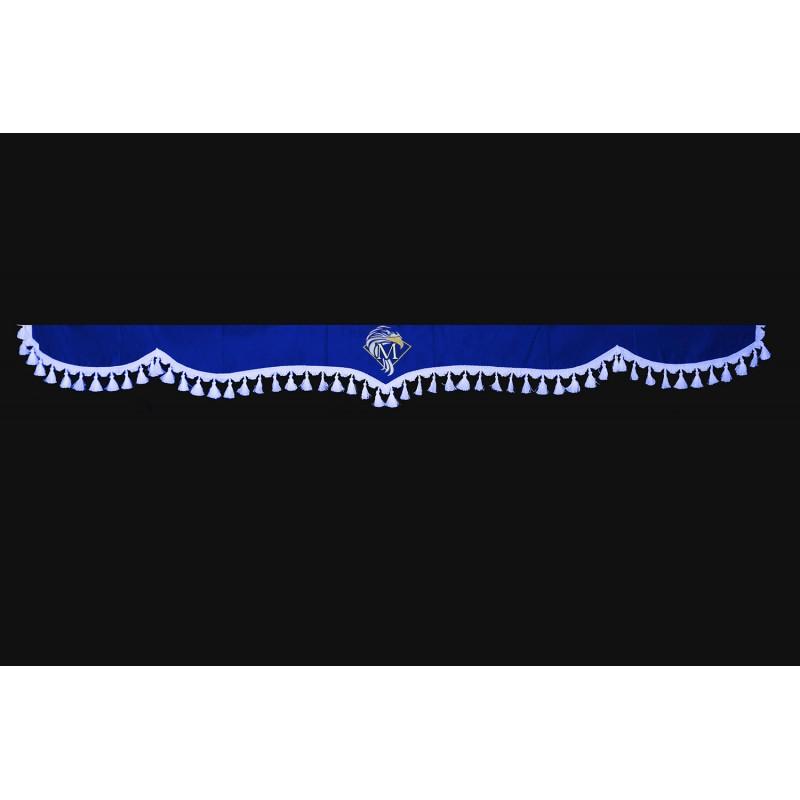 Frontscheibenborde Gardinen Vorhänge Blau Weiß passend für Mercedes Actros MP2 / MP3 / MP4 / MP5 / Arocs / Atego