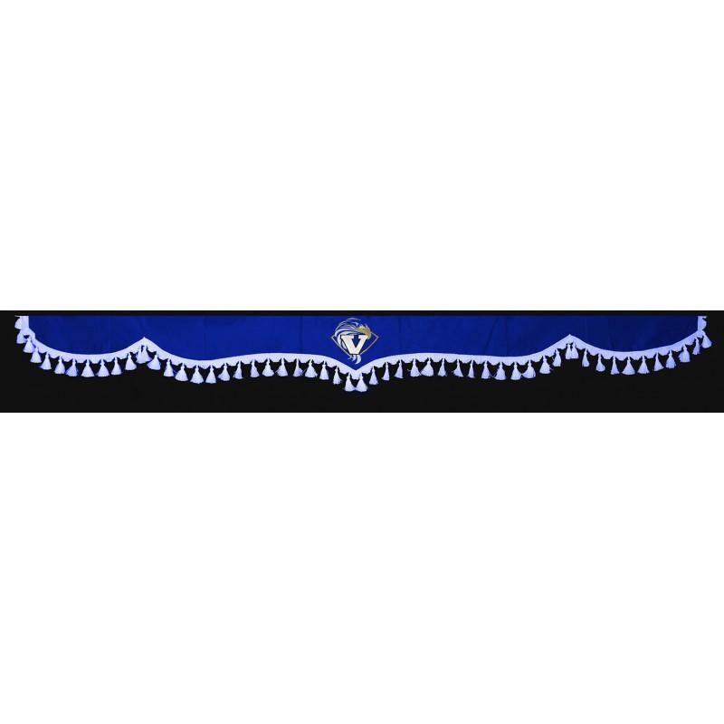 Frontscheibenborde Gardinen Vorhänge Blau Weiß passend für Volvo FH12 / FH4 / FH / FM / FL