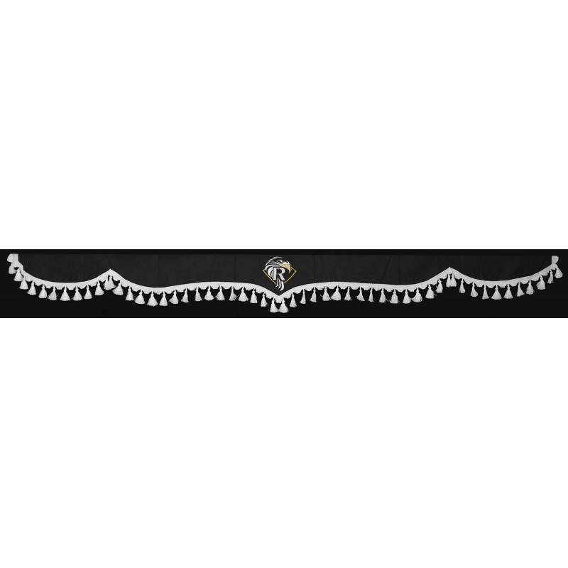 Frontscheibenborde Gardinen Vorhänge Grau Weiß passend für Renault Premium / Magnum / T