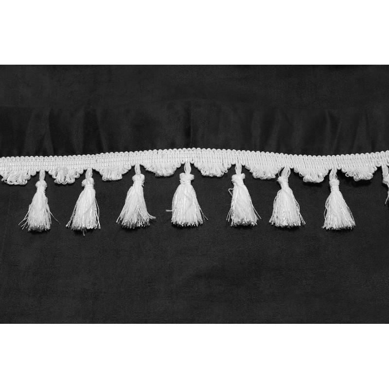 Frontscheibenborde Gardinen Vorhänge Grau Weiß passend für Iveco Trakker / Stralis / EcoStralis / Eurocargo / Hi-way / Hi-Land