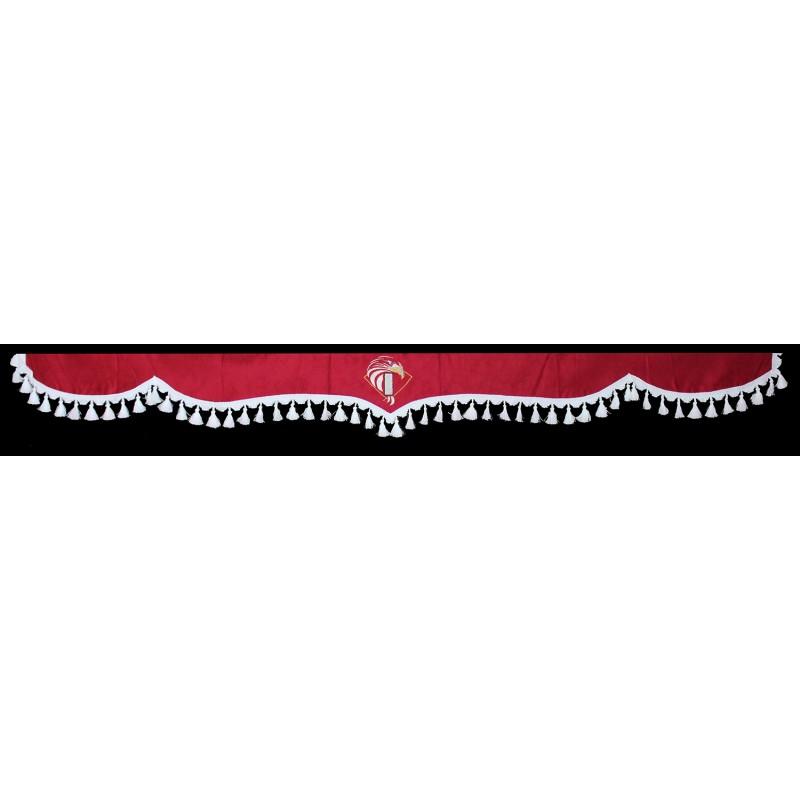 Gardinen Scheibengardinen 5-Teilig Rot Weiß passend für Iveco Eurocargo / Trakker / Stralis / Ecostralis