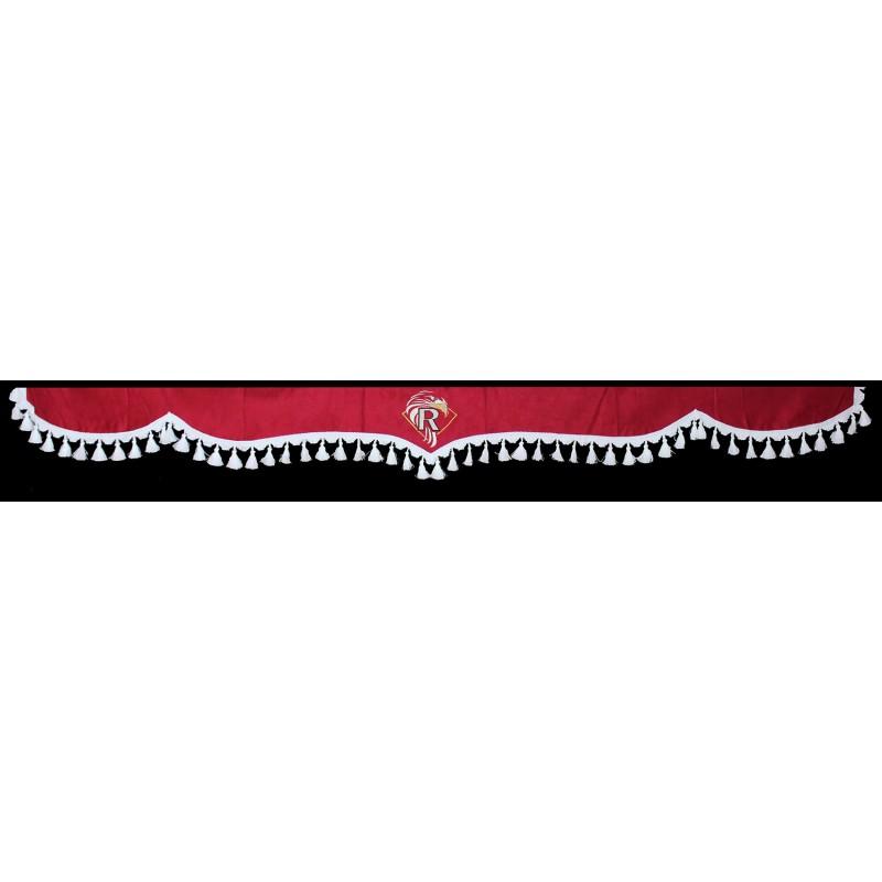 Gardinen Scheibengardinen 5-Teilig Rot Weiß passend für Renault Magnum / Premium / T