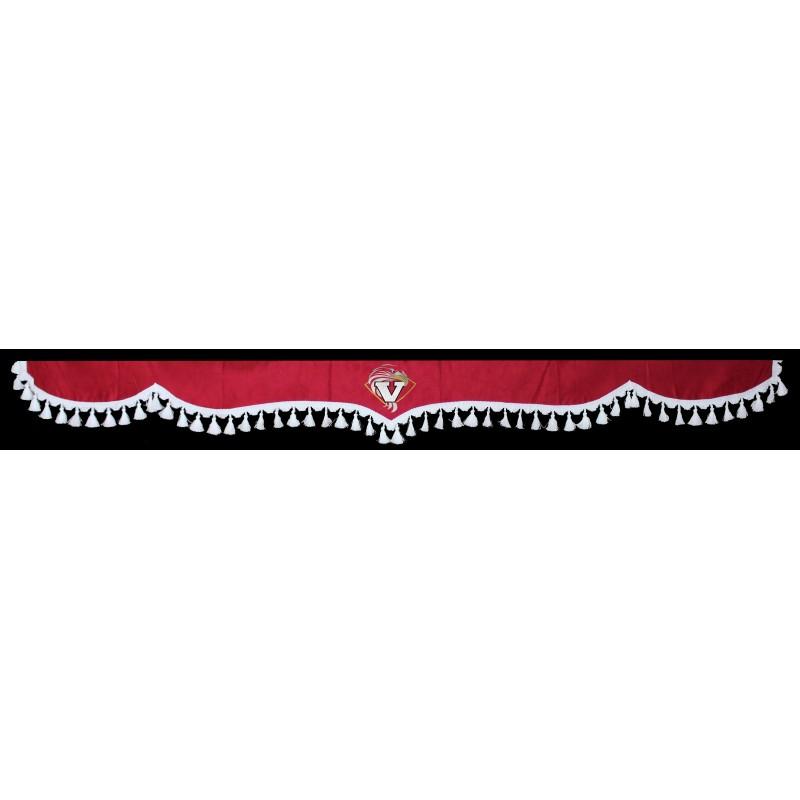 Gardinen Scheibengardinen 5-Teilig Rot Weiß passend für Volvo FH / FH4 / FH12 / FM / FL