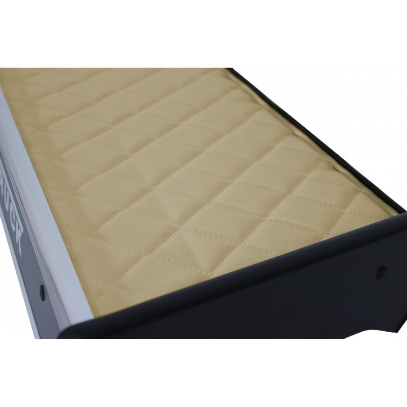 Ablagetisch mit Schublade aus Kunstleder in Beige passend für MAN TGX