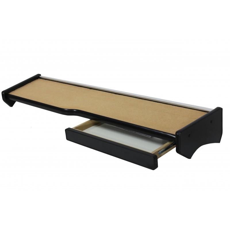 Ablagetisch mit Schublade aus Velour in Beige passend für MAN TGX