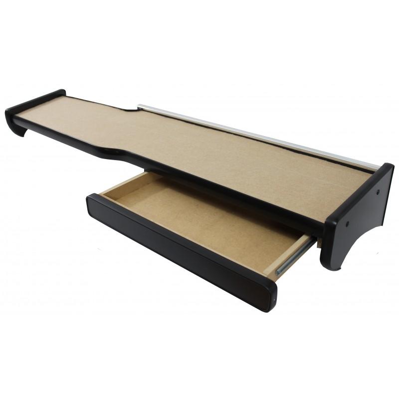 Ablagetisch mit Schublade aus Velour in Beige passend für MAN TGX mit Spurassistenten