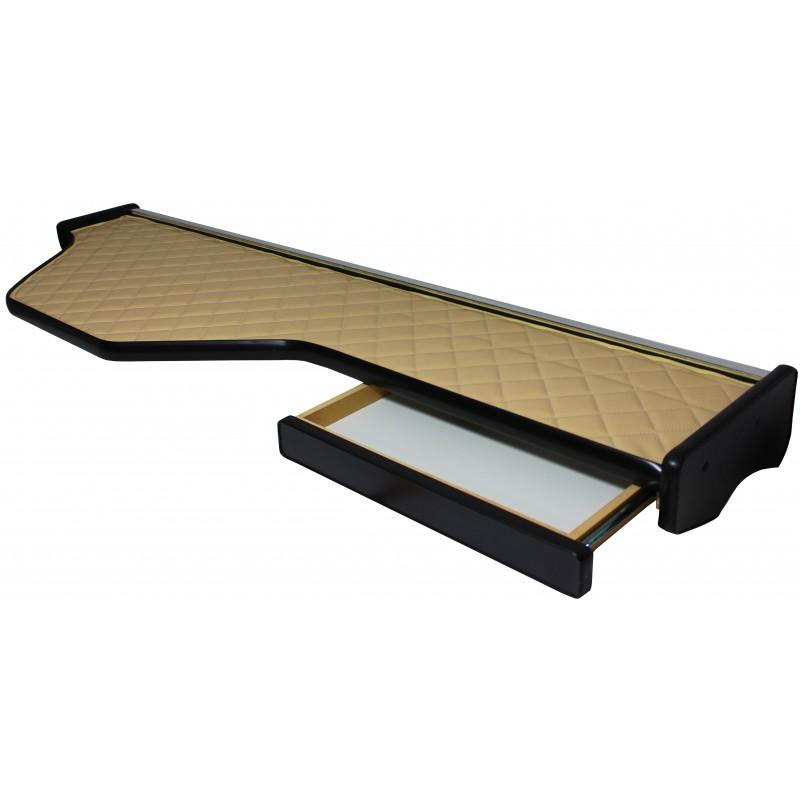 Ablagetisch Mittelablage aus Kunstleder in Beige passend für DAF XF 105 ab 2006