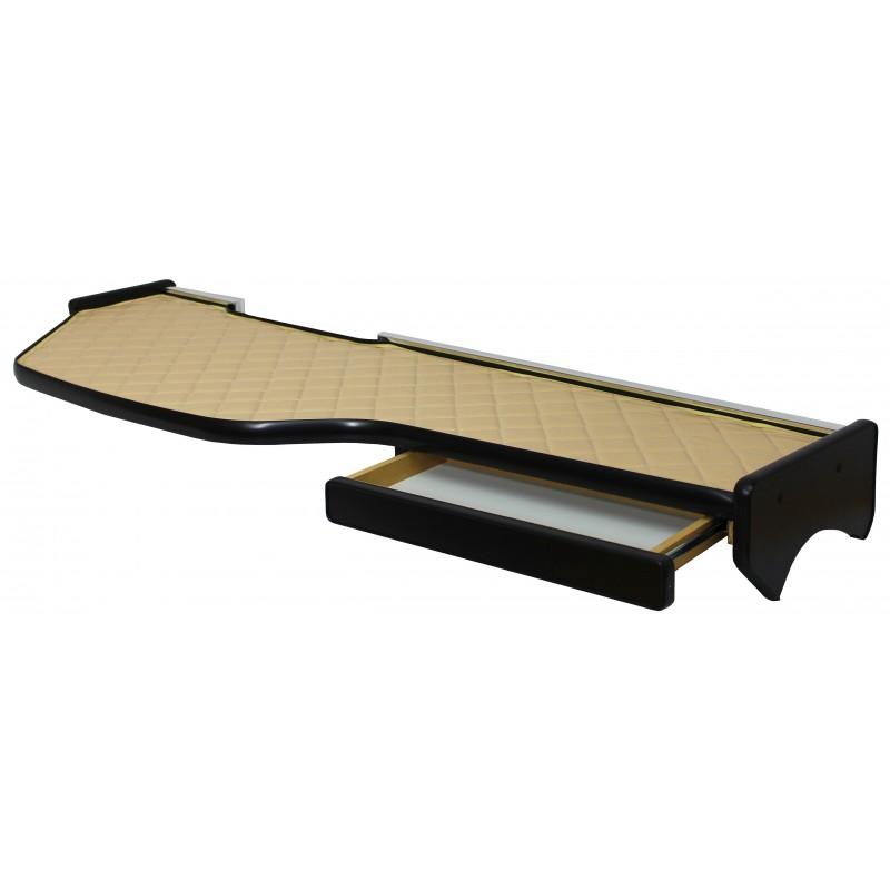 Ablagetisch aus Kunstleder Beige passend für DAF XF 106