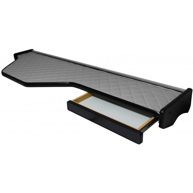 Mittelablage Tisch Kunstleder Grau passend für DAF XF 105 ab 2006