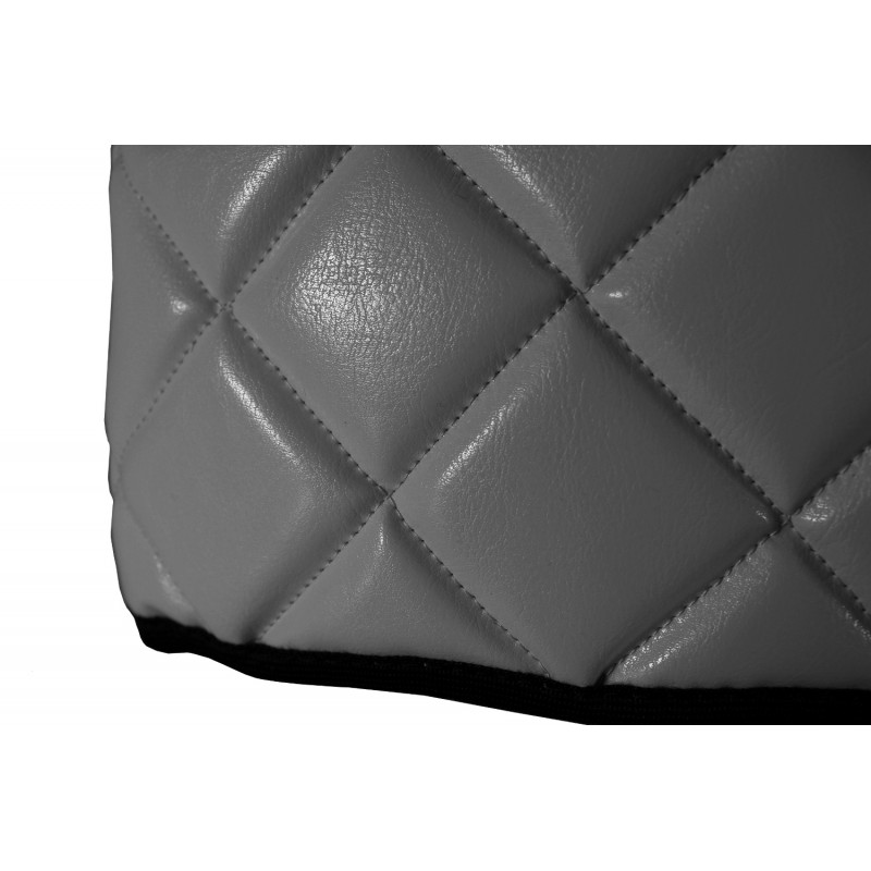 Sitzsockelverkleidung Kunstleder Grau passend für Mercedes Actros MP4 2011 - 2018 zwei Sitze Luftgefedert