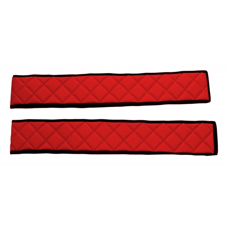 Sitzsockelverkleidung Kunstleder Rot passend für Mercedes Actros MP4 2011 - 2018 zwei Sitze Luftgefedert
