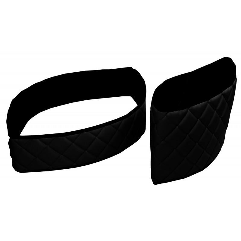 Sitzsockelverkleidung Kunstleder Schwarz passend für Mercedes Actros MP4 2011 - 2018 Fahrersitz Luftgefedert