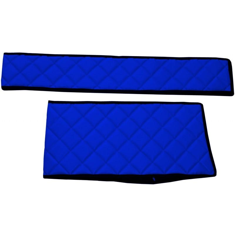 Sitzsockelverkleidung Kunstleder Blau passend für Mercedes Actros MP4 2011 - 2018 Fahrersitz Luftgefedert