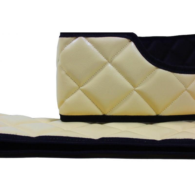 Sitzsockelverkleidung Kunstleder in Beige passend für Volvo FH 4 ab 2013
