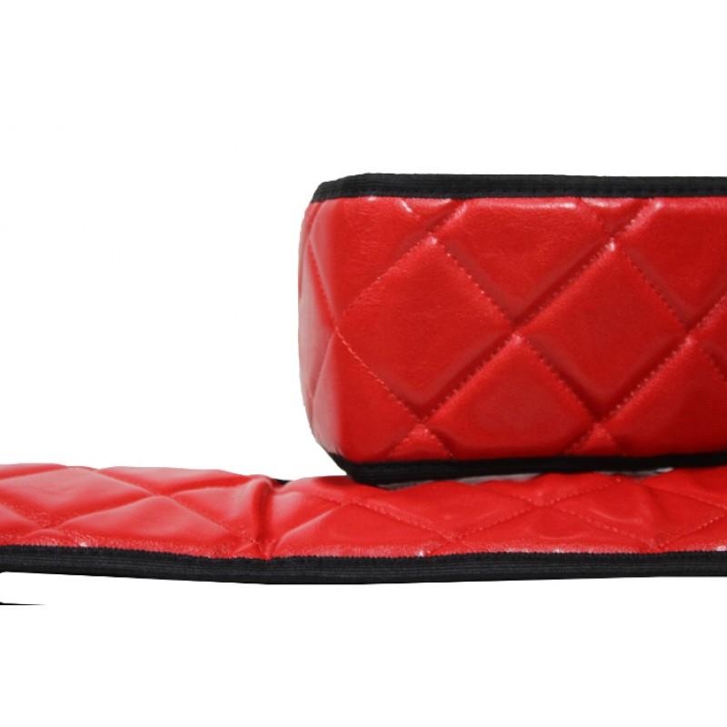 Sitzsockelverkleidung Kunstleder in Rot passend für Volvo FH 4 ab 2013