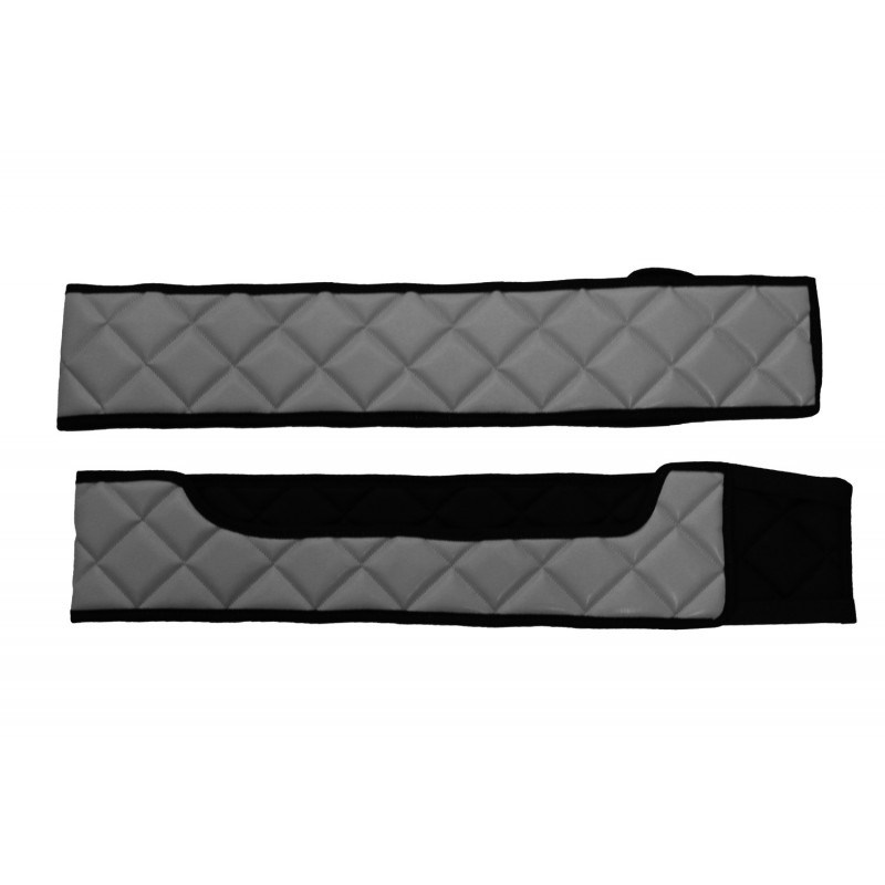 Sitzsockelverkleidung Kunstleder in Grau passend für Volvo FH 4 ab 2013