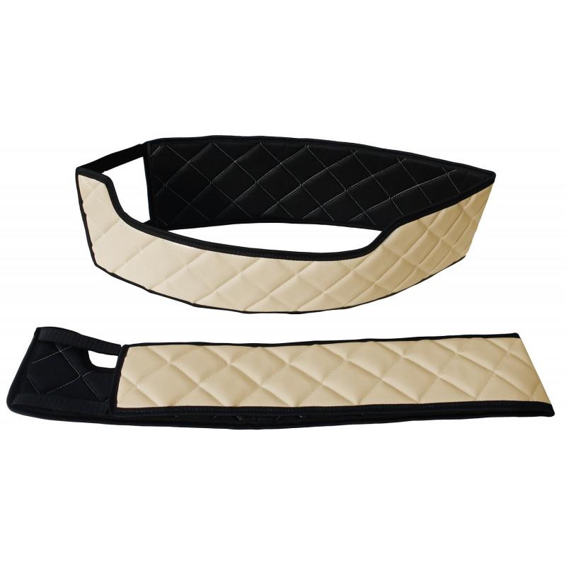 Sitzsockelverkleidung Kunstleder Beige passend für Volvo FH 4 ab 2013 Drehbaren