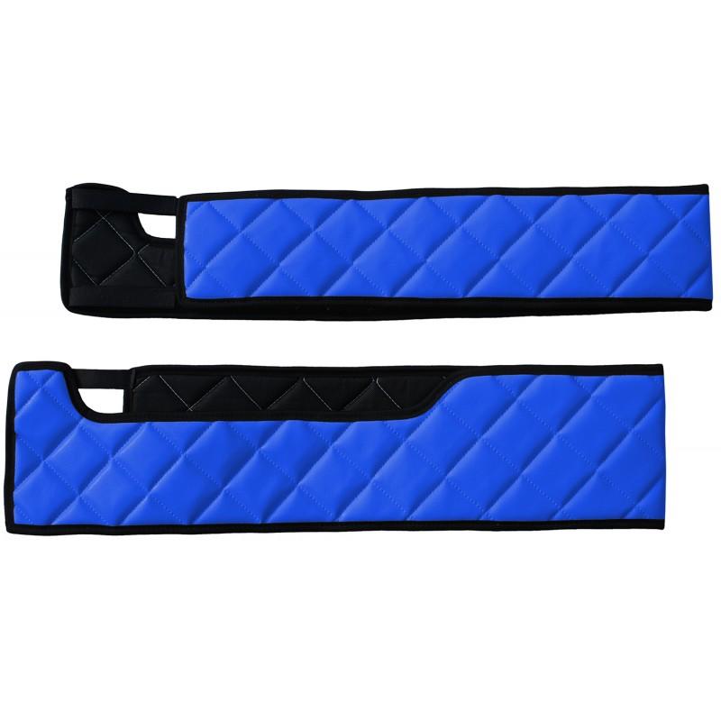 Sitzsockelverkleidung Kunstleder Blau passend für Volvo FH 4 ab 2013 Drehbaren