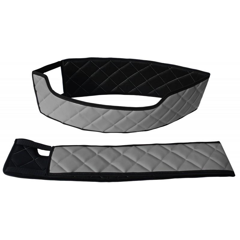 Sitzsockelverkleidung Kunstleder Grau passend für Volvo FH 4 ab 2013 Drehbaren