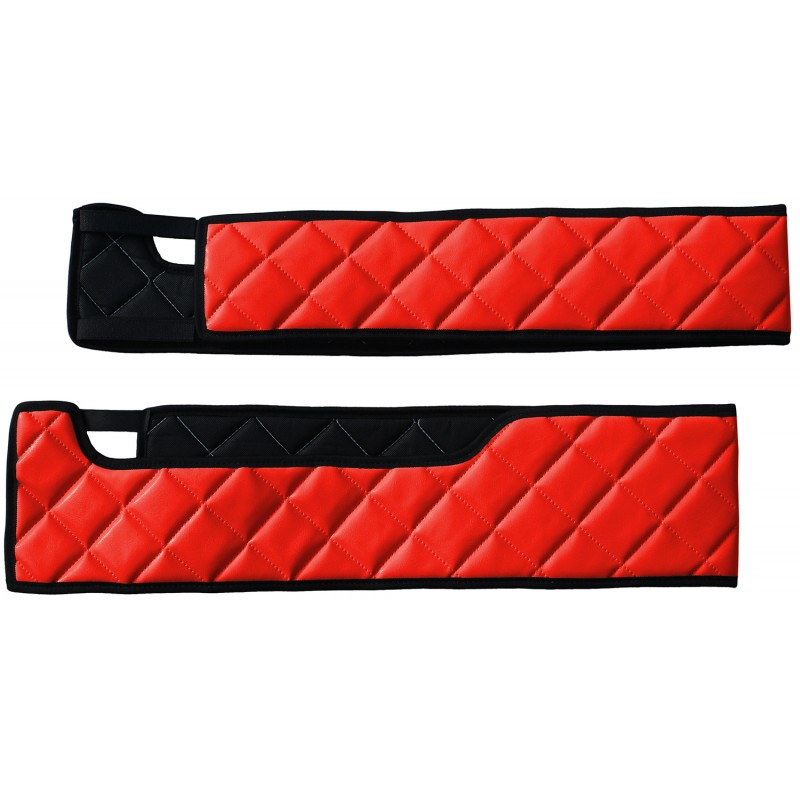 Sitzsockelverkleidung Kunstleder Rot passend für Volvo FH 4 ab 2013 Drehbaren