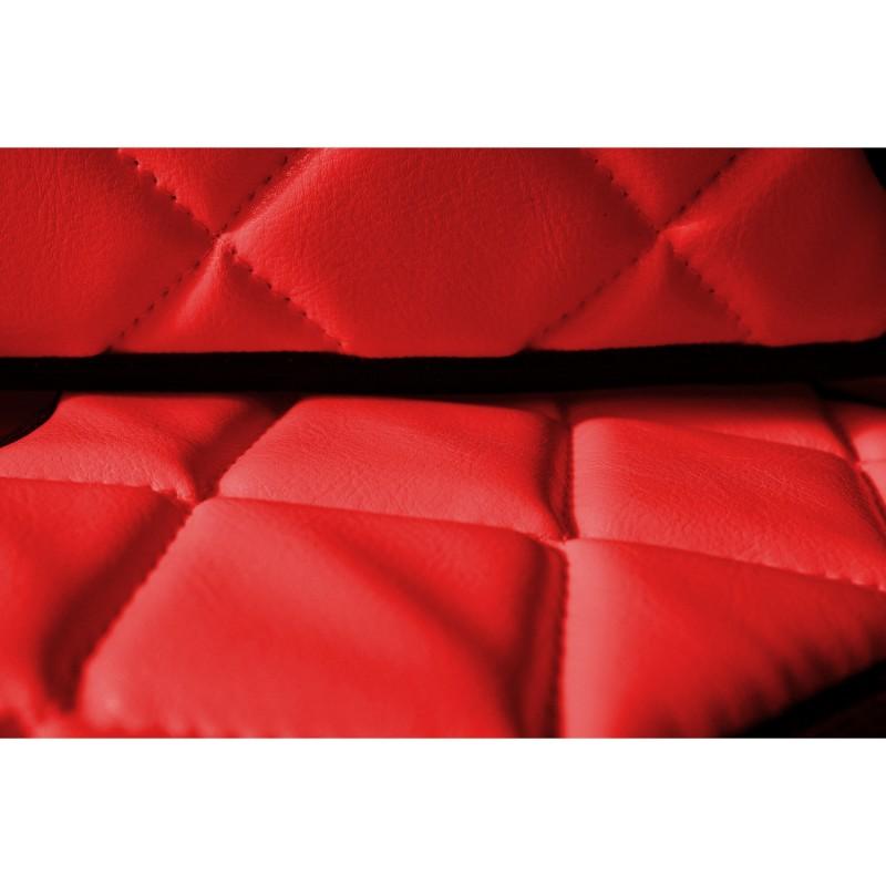 Sitzsockelverkleidung in Rot passend für DAF XF 105 ab 2006 mit ISRI Sitzen