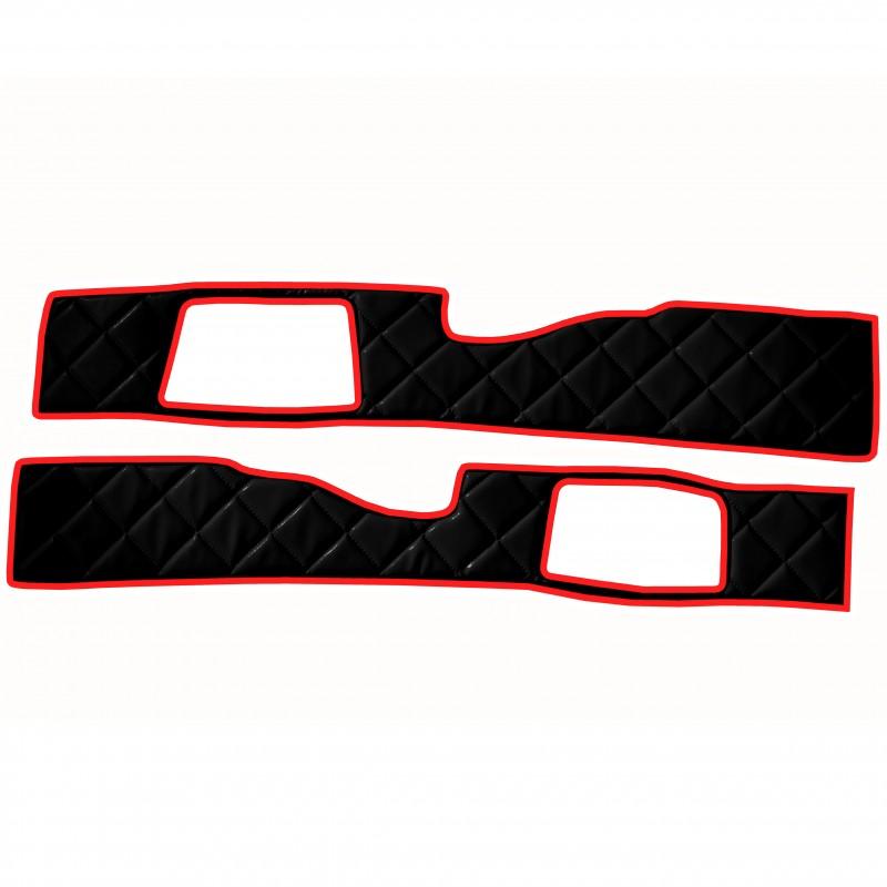 Sitzsockelverkleidung in Schwarz Rot passend für DAF XF 105 ab 2012 / XF 106