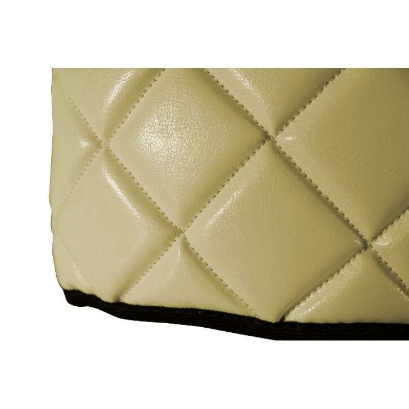 Sitzsockelverkleidung Beige Kunstleder passend für Mercedes Actros MP4 2011 - 2018 Schmales Fahrerhaus