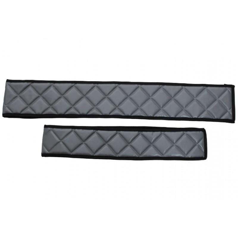 Sitzsockelverkleidung Grau Kunstleder passend für Mercedes Actros MP4 2011 - 2018 Schmales Fahrerhaus
