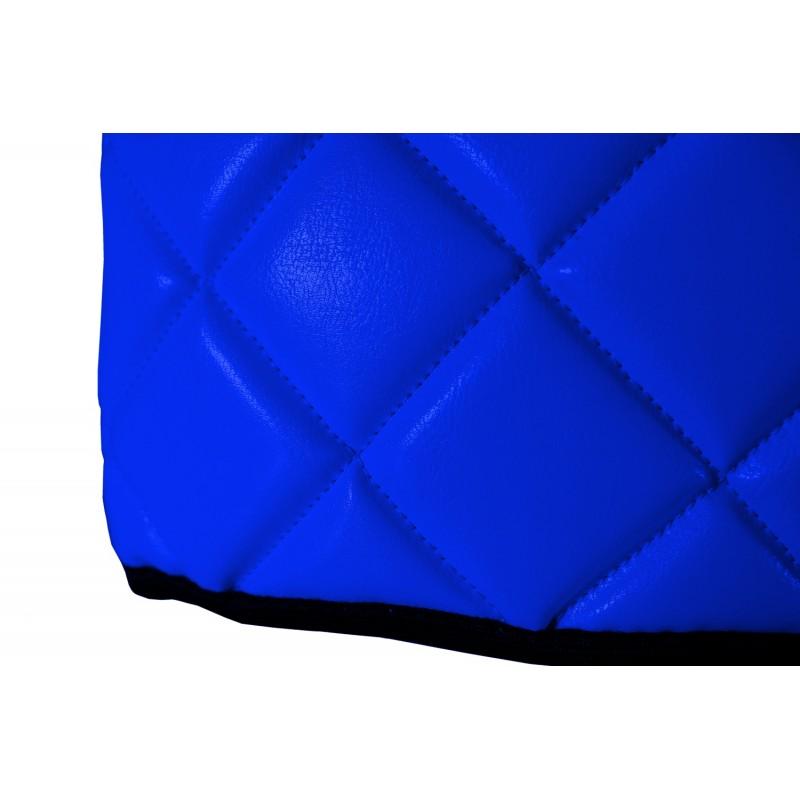 Sitzsockelverkleidung Kunstleder Blau passend für Mercedes Actros MP4 2011 - 2018 Schmales Fahrerhaus