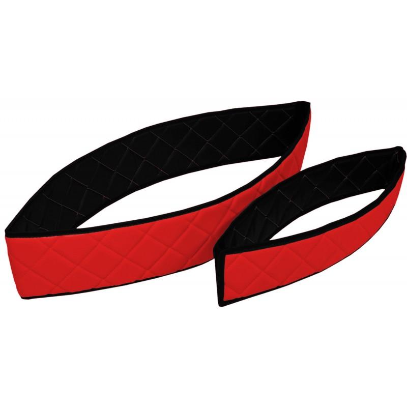Sitzsockelverkleidung Kunstleder Rot passend für Mercedes Actros MP4 2011 - 2018 Schmales Fahrerhaus