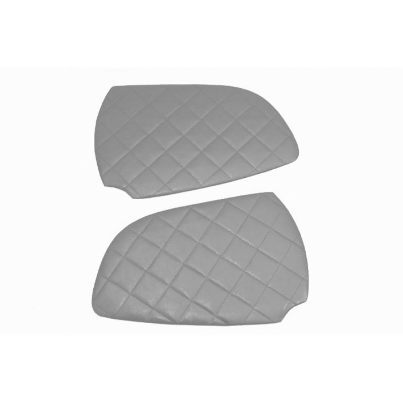 2x Türverkleidung Polster aus Kunstleder in Grau passend für Scania R / G