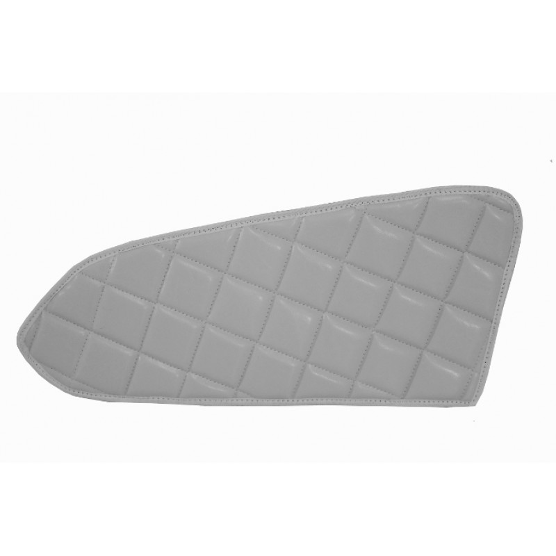2x Türverkleidung Polster aus Kunstleder in Grau passend für Mercedes Actros MP4 2011 - 2018