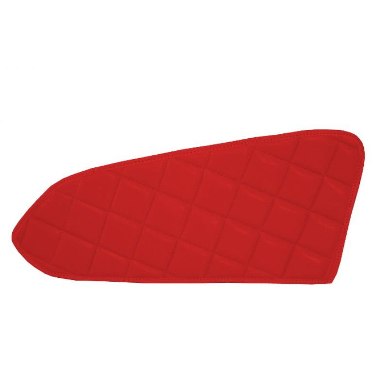 2x Türverkleidung Polster aus Kunstleder in Rot passend für Mercedes Actros MP4 2011 - 2018