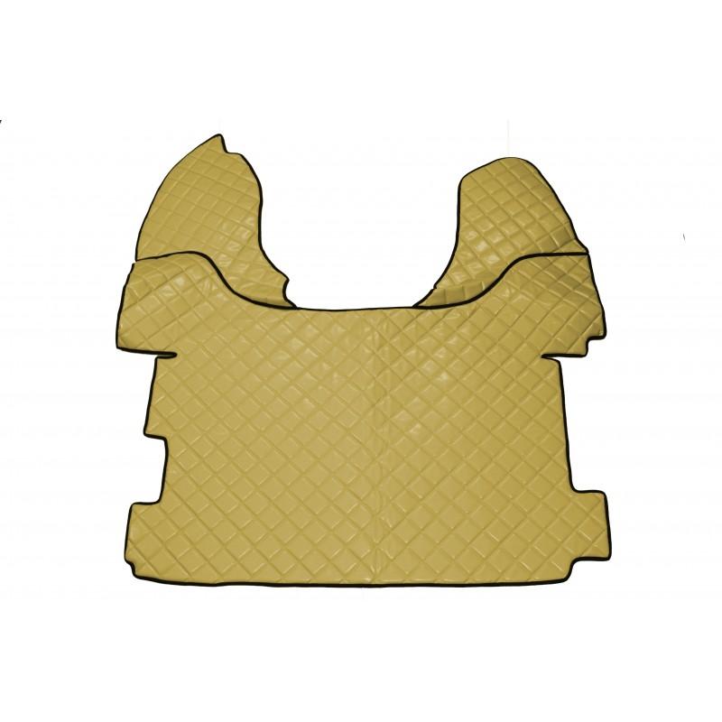 Fußmatten + Tunnelabdeckung Kunstleder Beige passend für DAF XF 106 ab 2013 Automatik Getriebe